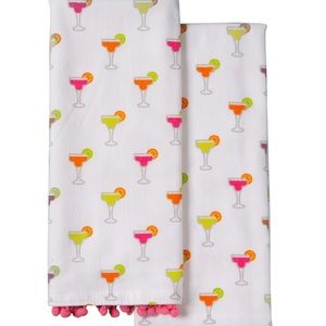 NWT Tiny Margarita Kitchen Towels-Set Of 2